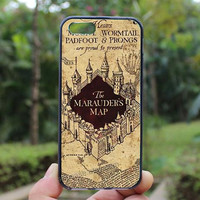 Harry Potter Marauders Map ,iphone 4 case,iPhone4s case, iphone 5 case,iphone 5c case,Gift,Personalized,water proof