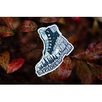 Hiking Boot Sticker 3""