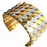 """""""Scaled To Perfection"""" Gold And Silver Cuff"""