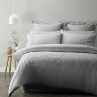 Nichola Silver Embellished Quilt Cover Set by Phase 2
