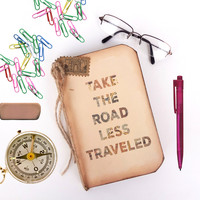 Travel Quote Journal - Take the Road Less Traveled - Inspirational Journal