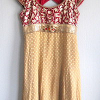 Indian costume salvar \ dress , pants and shawl vintage size S