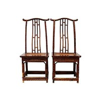 Pre-owned Bamboo Ming-Style Side Chairs - Pair