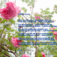 Digital Download, Photography, Fine Arts, Poetry, Mother, Daughter, Pink Roses, Unconditional Love