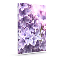 """Sylvia Cook """"Lilac"""" Purple Flowers Outdoor Canvas Wall Art"""