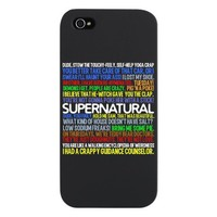 Supernatural TV Show iPhone 5 Case by QuotableTV