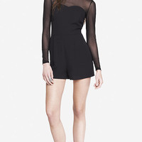 STRUCTURED SHEER TOP ROMPER from EXPRESS