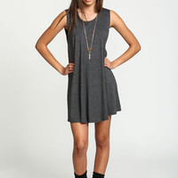 Charcoal Jersey Sleeveless Slip Dress - LoveCulture
