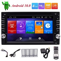 EinCar Double Din Car Stereo Android 10.0 Car Radio with Bluetooth GPS Navigation DVD Player 6.2 inch Touch Screen Head Unit Support WiFi FM/AM Radio Mirror Link Steering Wheel Controls USB/SD OBD2 Android 2 din car stereo