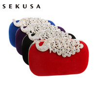 Mixed design luxury crystal women bag tassel pearl evening bags shell beaded day clutch evening bag finger ring small purse bag