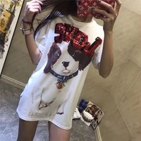 """D&G""Hot letters print T-shirt top"