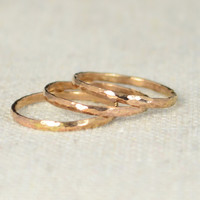 Classic Rose Gold Stackable Rings