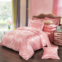 BEYOND CLOUD 4 Pieces AB Sides Bedding Set Home/Hotel King Queen Luxury Design Quality Bed Sheet Duvet Cover Pillow Shams 022
