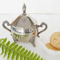 silver sugar, Victorian style, sugar bowl, table decoration, coffee and tea, table service, sugar boat