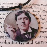 Oscar Wilde Pendant Necklace by SunnyRavenDesigns on Etsy