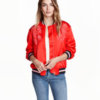 Embroidered Pilot Jacket - from H&M
