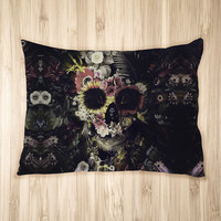 Warped Garden Skull Pet Bed