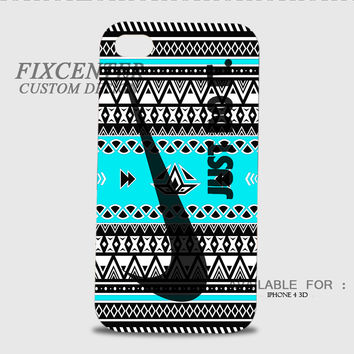 Tick Just Do It Aztec Blue 3D Image Cases for iPhone 4/4S, iPhone 5/5S, iPhone 5C, iPhone 6, iPhone 6 Plus, iPod 4, iPod 5, Samsung Galaxy (S3, S4, S5, S6) by FixCenters