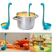 Plastic Cute Feet Stand Soup Spoon Upright Kitchen Long Handle Home Tool qe3 = 5617800129