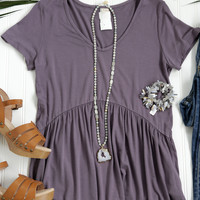 Lou Lou Babydoll Top, Light Purple