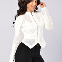 Roll The Dice Jacket - White