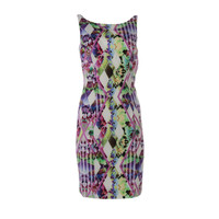 Milly Womens Printed Spaghetti Strap Casual Dress