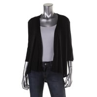 Style & Co. Womens Petites Knit Pleated Cardigan Top