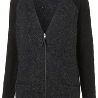 Knitted Zip Front Long Cardigan - Sale  - Sale & Offers