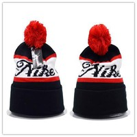 Nike Women Men Embroidery Beanies Winter Warm Knit Hat Cap-8