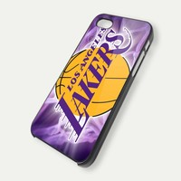 la lakers case - iPhone 4 Case, iPhone 4s Case and iPhone 5 case Hard Plastic Case