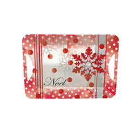 Lang Winter Holiday Melamine Open Handle Serving Tray