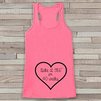 Pregnancy Announcement Tank - Pregnancy Shirt - Pregnancy Reveal to Grandparents - Pink Tank - Pregnancy Announcement Shirt - New Mom