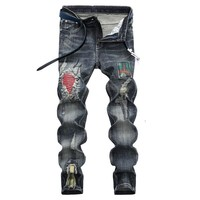Ripped Holes Winter Men's Fashion Jeans [1567946408029]