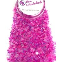 Pretty in Pink Iridescent Translucent Body and Face Festival Glitter (Large 30 Grams)