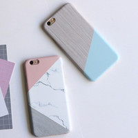 High-quality Marble Mosaic Grain Cover for iPhone 7 7Plus & iPhone 6 6s Plus & iPhone 5s se Case +Gift Box-D94