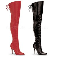 Legend 8899 Leather OTK Thigh High Single Sole Boots Sizes UP TO 16