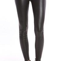 MATTED LEATHER LEGGINGS