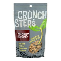 Crunchsters - Sprouted Protein Snack - Smokey Balsamic - Case Of 6 - 4 Oz.