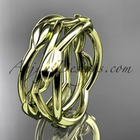14kt yellow gold leaf and vine wedding ring,wedding band ADLR350G