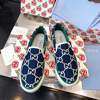 GG 1977 Women's Canvas Loafers Shoes