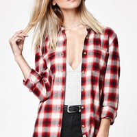 Meridian Flannel Plaid Button-Down Shirt