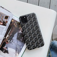 IPHONE 11 DESIGNER GOYA MONOGRAM PROTECTIVE IPHONE CASE - BLACK (Various Models)