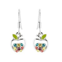 Glamorousky Apple Earrings with Multi Color Austrian Element Crystals (724)