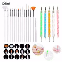 Bittb Nail Tool Set Nail Brush Dotting Pen Manicure Beauty Nail Art Drawing Brush Set Polish Art Painting Brush Gel Dotting Tool