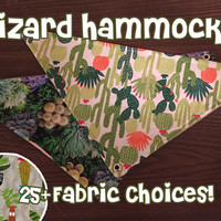 Custom reptile hammock for leopard geckos, bearded dragons, and other reptiles- 25 colors
