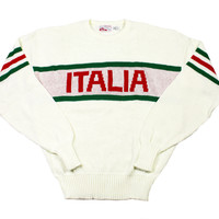 Vintage 1980s Italia Acrylic Sweater Made in USA Mens Size Medium