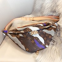 Louis vuitton LV New fashion monogram camouflage leather shopping and leisure shoulder bag crossbody bag waist bag
