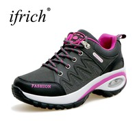 Trekking Hiking Shoes Woman Height Increase Ladies Walking Boots Anti-Slip Hiking Shoes Womens Autumn/Winter Outdoor Shoes Woman