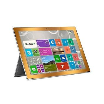 PerfectFit GlassShield Tempered Glass Screen Protector for Surface Pro 3 Gold