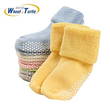 3Pairs A Lot Mother Kids Baby Clothing Socks Leg Warmers Unisex All Season Suitable Floor Wear Antislid Socks For 0-3 Year Baby